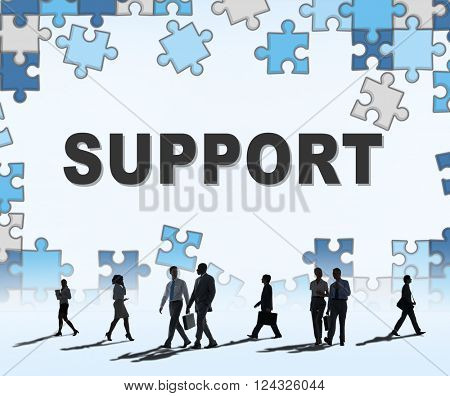 Support Assistance Cooperation Team Aid Concept