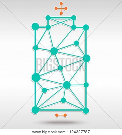 Green Alkaline in dot and network vector style