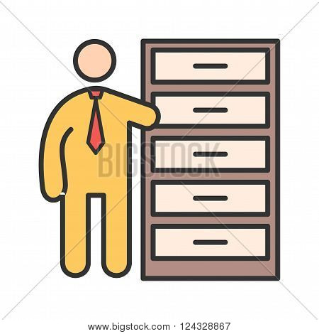 Inventory, distribution, warehouse icon vector image. Can also be used for humans. Suitable for use on web apps, mobile apps and print media.