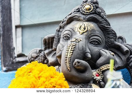 Ganesha Made Of Stone In Thailand