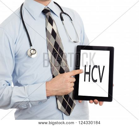 Doctor Holding Tablet - Hcv