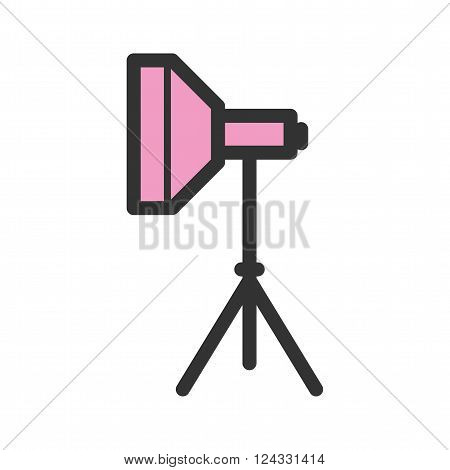 Studio, set, photography icon vector image. Can also be used for photography. Suitable for use on web apps, mobile apps and print media.