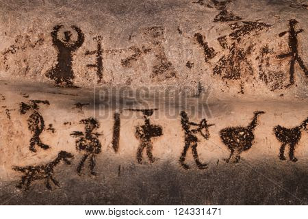 Cave Drawings In Magura Cave, Bulgaria