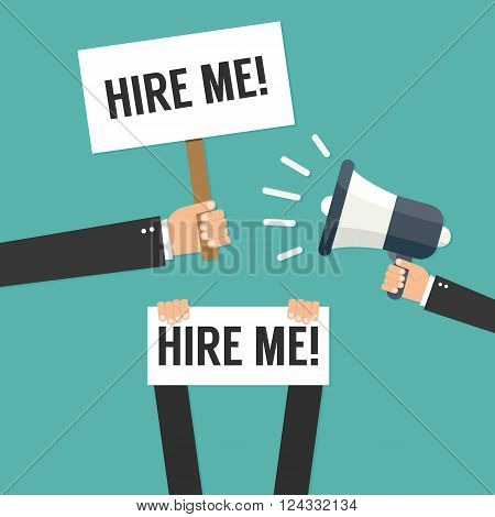 Hire me - vector illustration - isolated