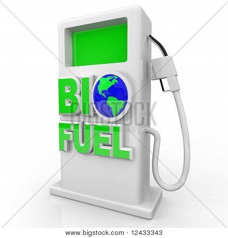 Biokraftstoff - grüne Tankstelle Pumpe