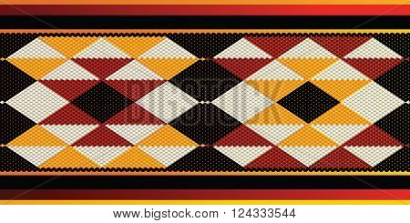 Repetitive Triangles Pattern Sadu Style Weaving Theme Background