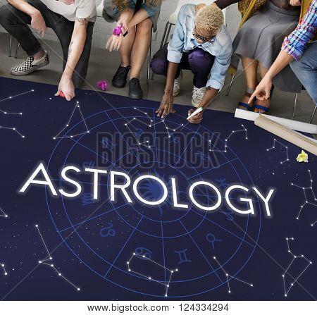 Astrology Comet Constellation Fantasy Galaxy Concept