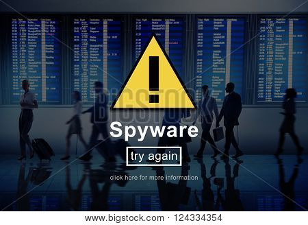 Spyware Virus Firewall Network Security System Concept