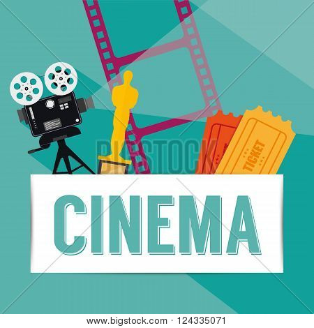 Cinema background - Vector illustration - isolated