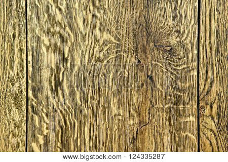 Background of an old natural wooden darken room with messy and grungy cracked
