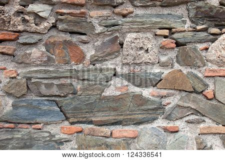rough stone and bricks wall surface texture background