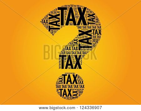 Tax Question Mark, Word Cloud