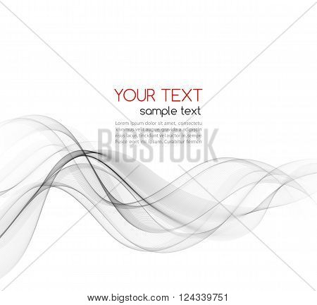 Abstract gray color wave design element. Gray wave