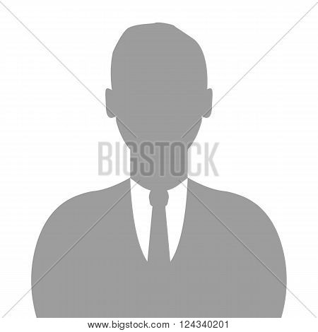 Avatar profile icon man vector illustration isolated