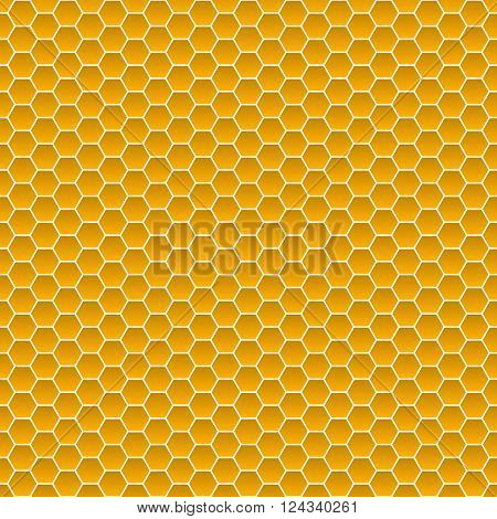 Seamless Pattern Of Small Hexagons