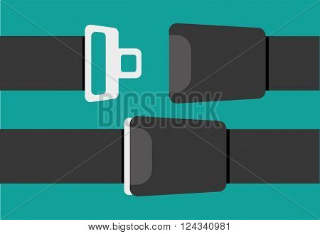 Seat belt sign - vector illustration isolated