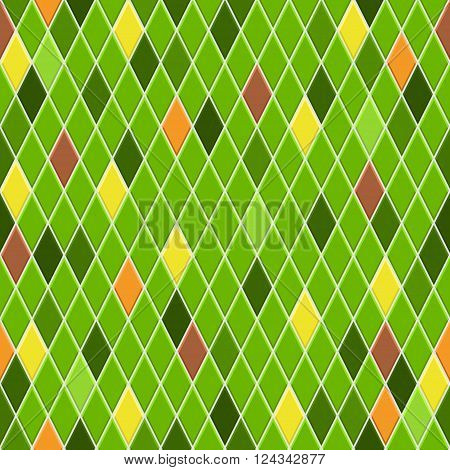Seamless Pattern Of Small Rhombuses