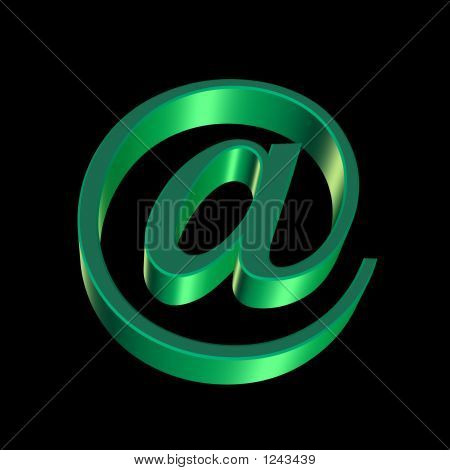 Internet Email @ Sign Green
