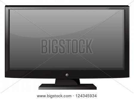 Television with flat screen illustration