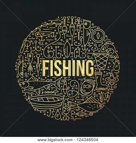 Fishing Design Template