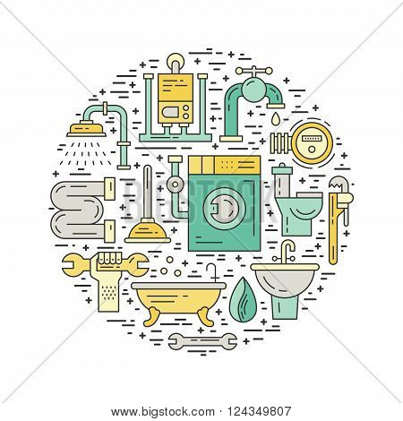 Plumbing Illustration