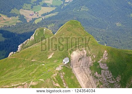 View near the summit of the Pilatus mountain