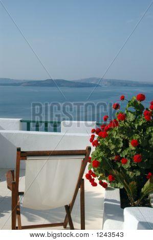 Vista panorámica de Santorini