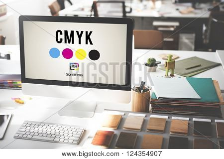 CMYK Color Printing Ink Color Model Concept