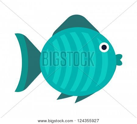 Aquatic fish wildlife aquarium underwater nature tropical seafood animal vector.