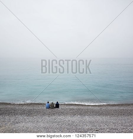 Winter day in Nice France - Beach