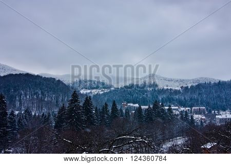 View Of Carpathian Mountains In Yaremche