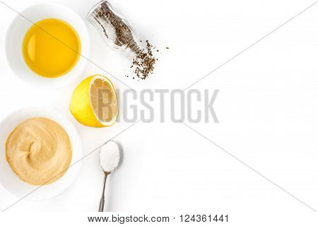Seasoning set on the white background horizontal