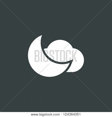 Cloud Moon Icon In Vector Format. Premium Quality Cloud Moon Icon. Web Graphic Cloud Moon Icon Sign