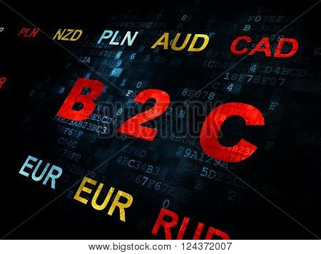 Business concept: B2c on Digital background
