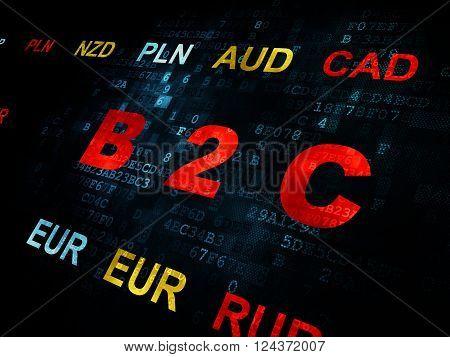 Business concept: B2c on Digital background