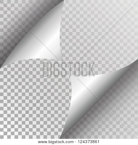 Page curl with shadow vector illustration isolated