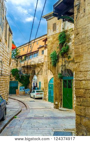 NAZARETH ISRAEL - FEBRUARY 21 2016: The old town Nazareth boasts old mansions and maze of streets on February 21 in Nazareth.