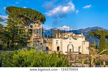 View of Ravello village on the Amalfi Coast in Italy