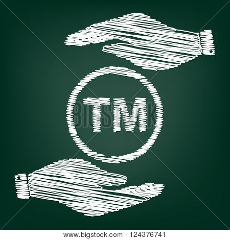Trade mark sign. Flat style icon with scribble effect