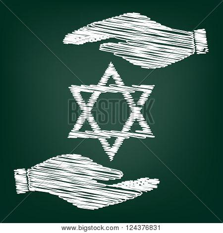 Star Shield a David. Symbol of Israel.