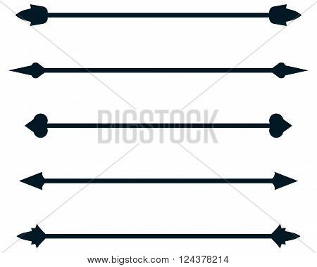 Dividing rule lines Vector dividers rulelines illustration isolated