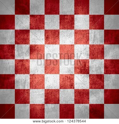 chequered pattern texture or red and white chessboard background check