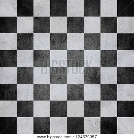 chequered pattern texture or black and white chessboard background check
