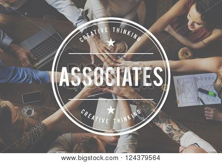 Colleagues Company Collaboration Associates Cooperation Concept