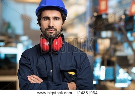 Portrait of a mechanical engineer