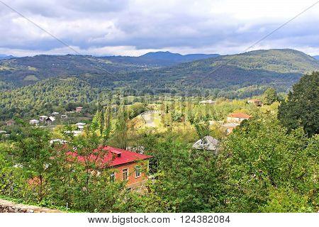 Village near Kutaisi in the autumn, Georgia