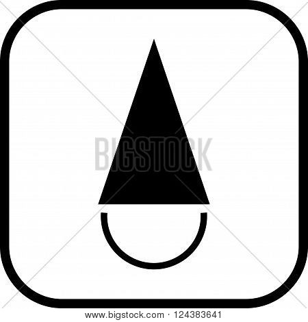 Fool's cap. Fool in cap vector icon isolated
