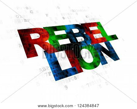 Political concept: Rebellion on Digital background