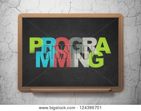 Programming concept: Programming on School board background