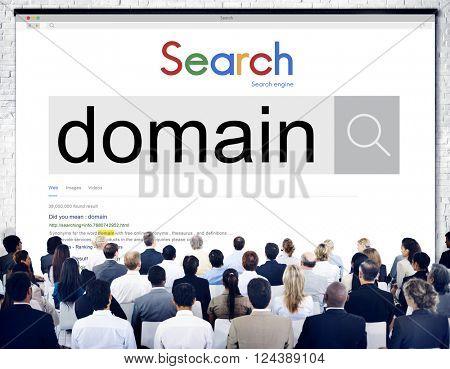 Domain Address Homepage Name Website Internet Concept